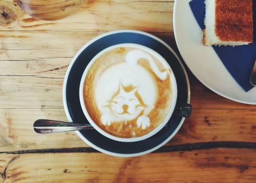 cappuccino art Monks Coffee Roasters