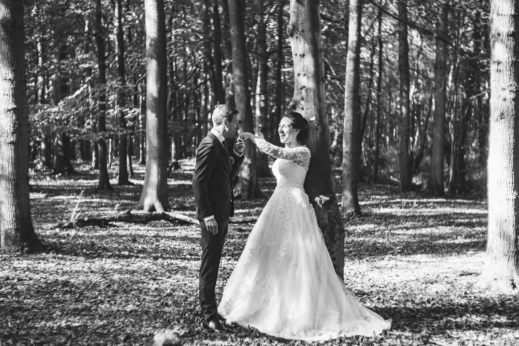 bw wedding forest Castricum