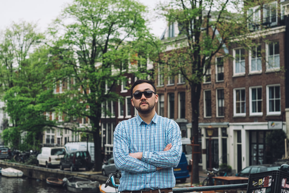 man street portrait amsterdam