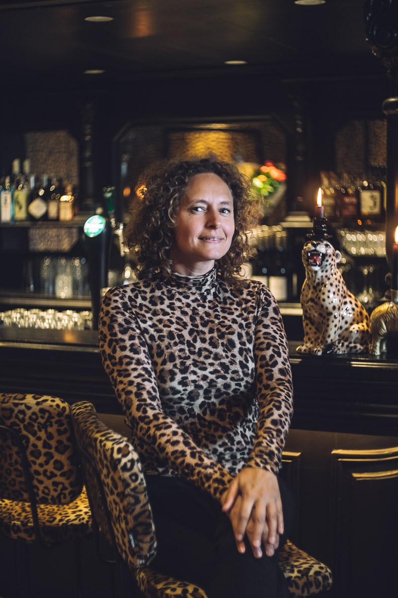 leopard print portrait