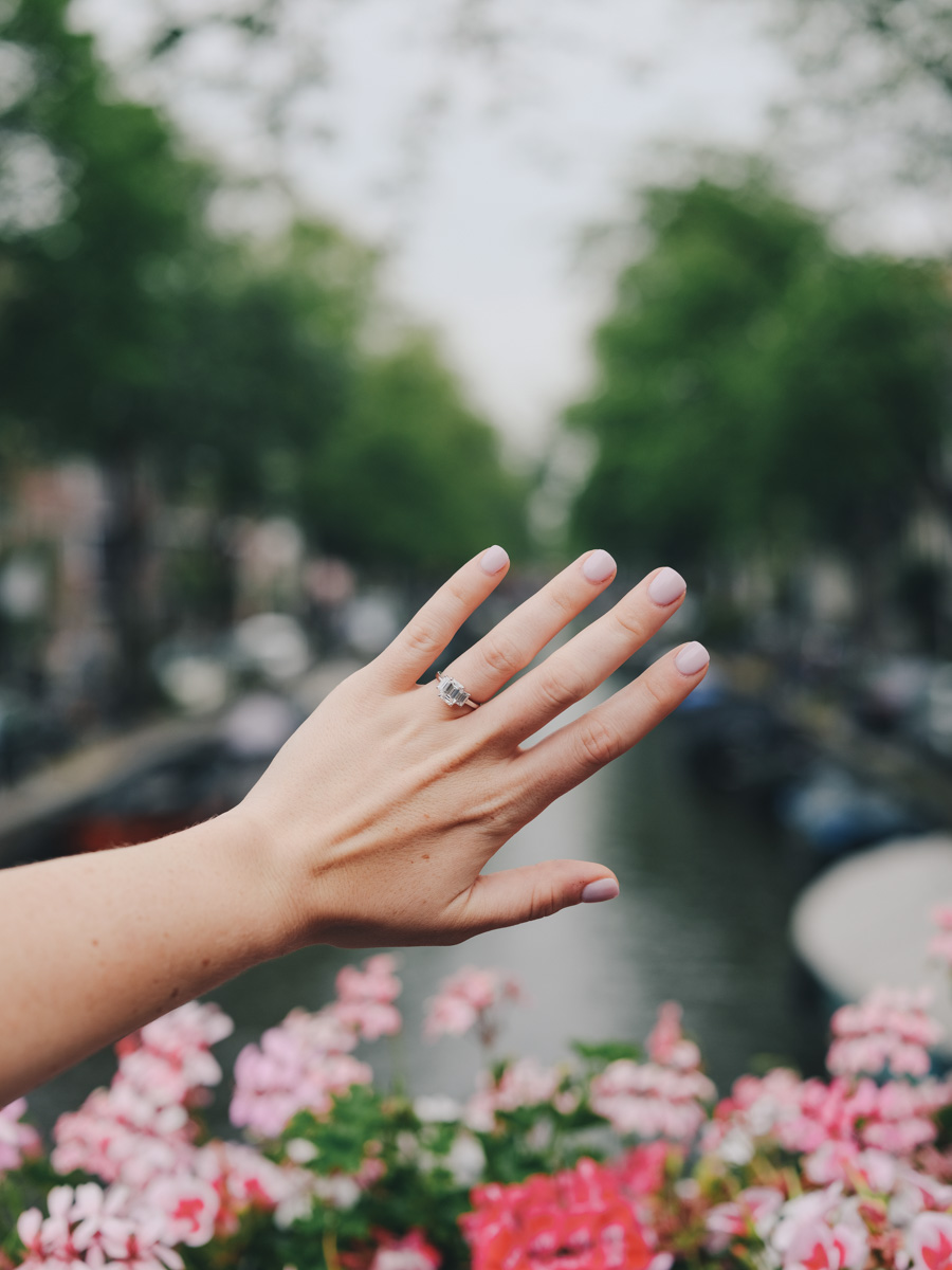 She Said Yes on the Canals of Amsterdam