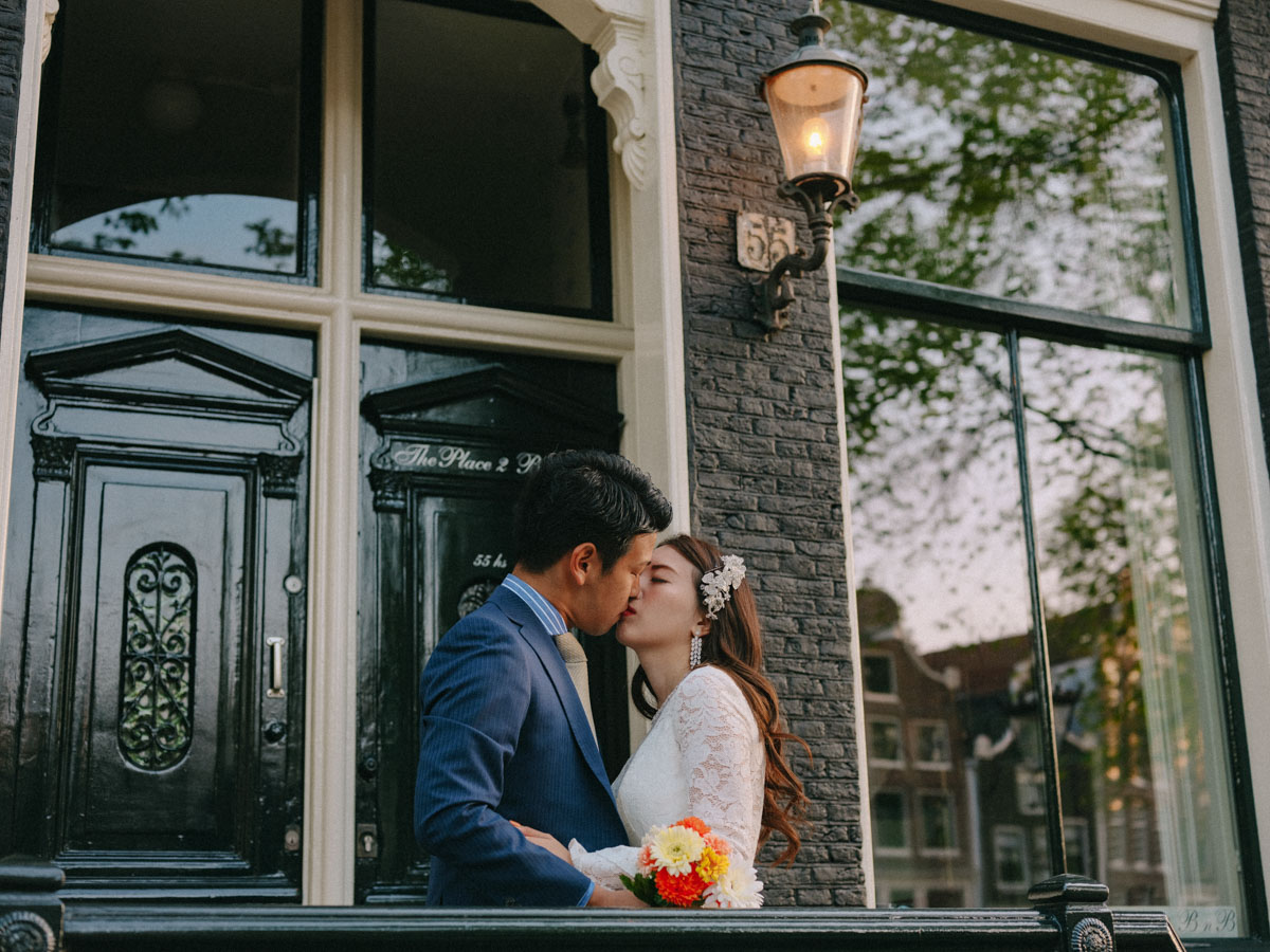 newlywed portrait photography amsterdam