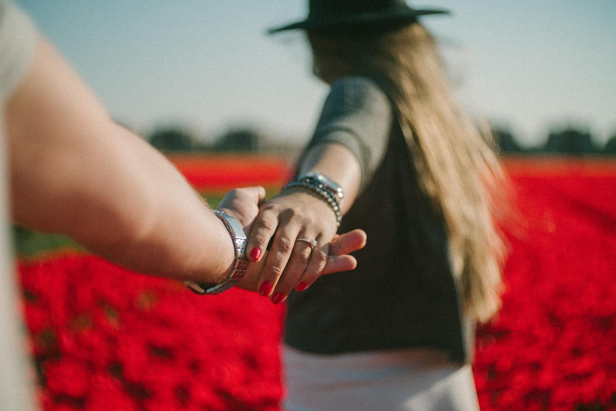 proposal photographer amsterdam flower fields