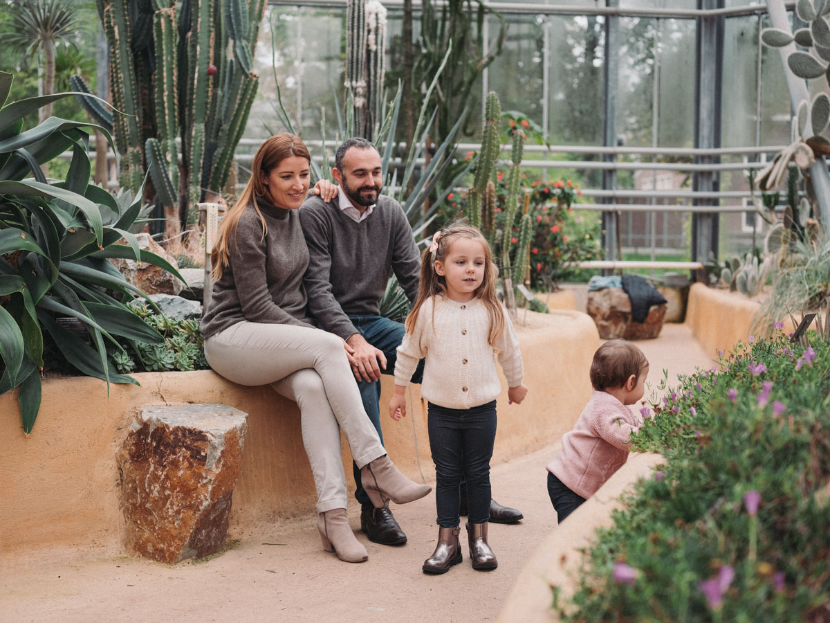 botanical garden amsterdam family photosession