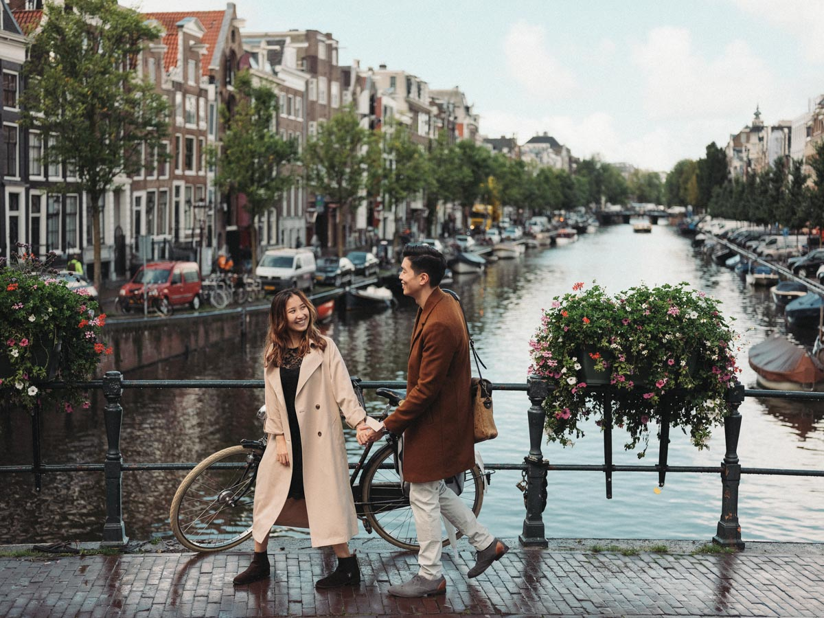 photosession of lovers amsterdam