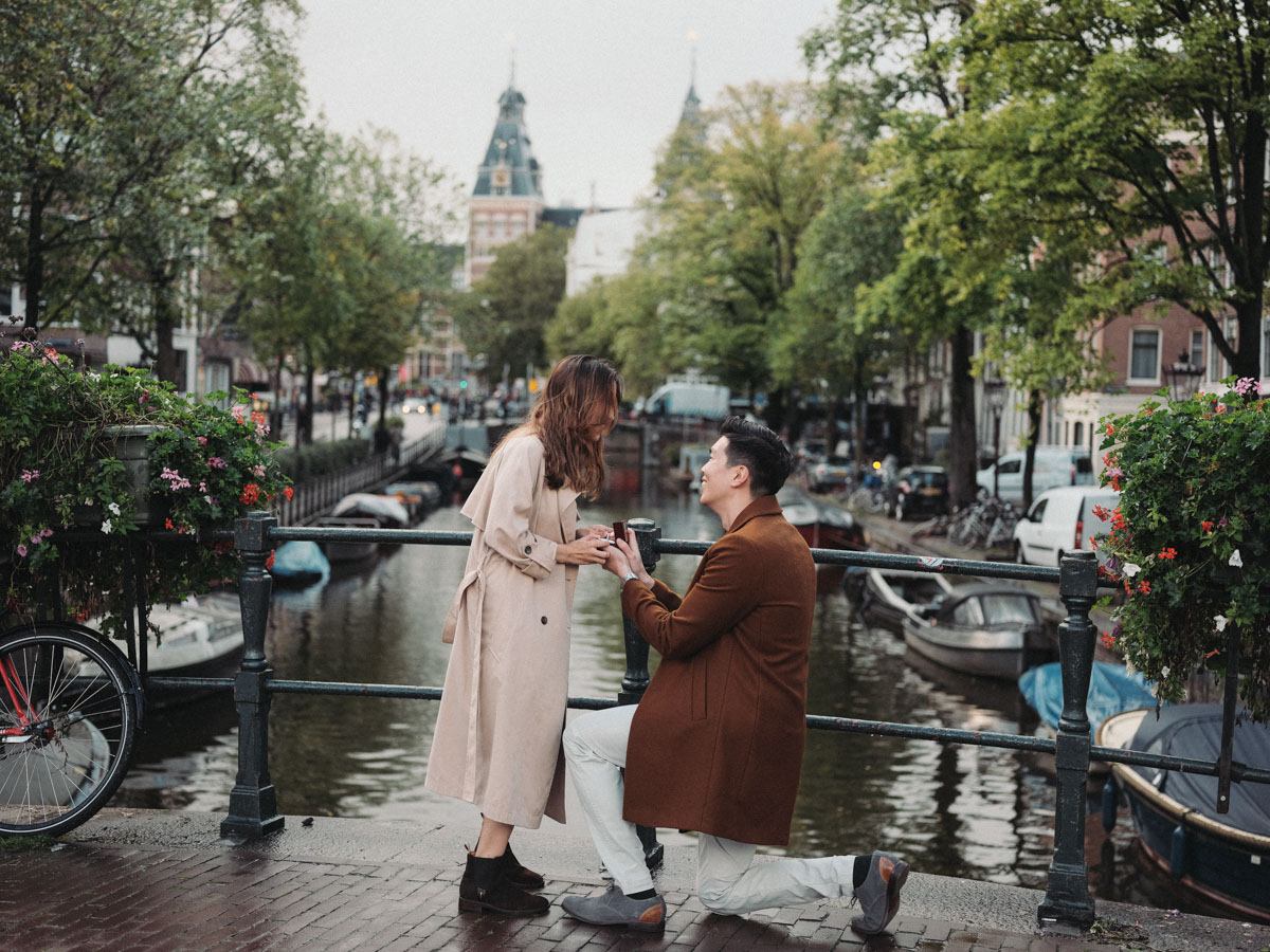 surprise proposal photography amsterdam