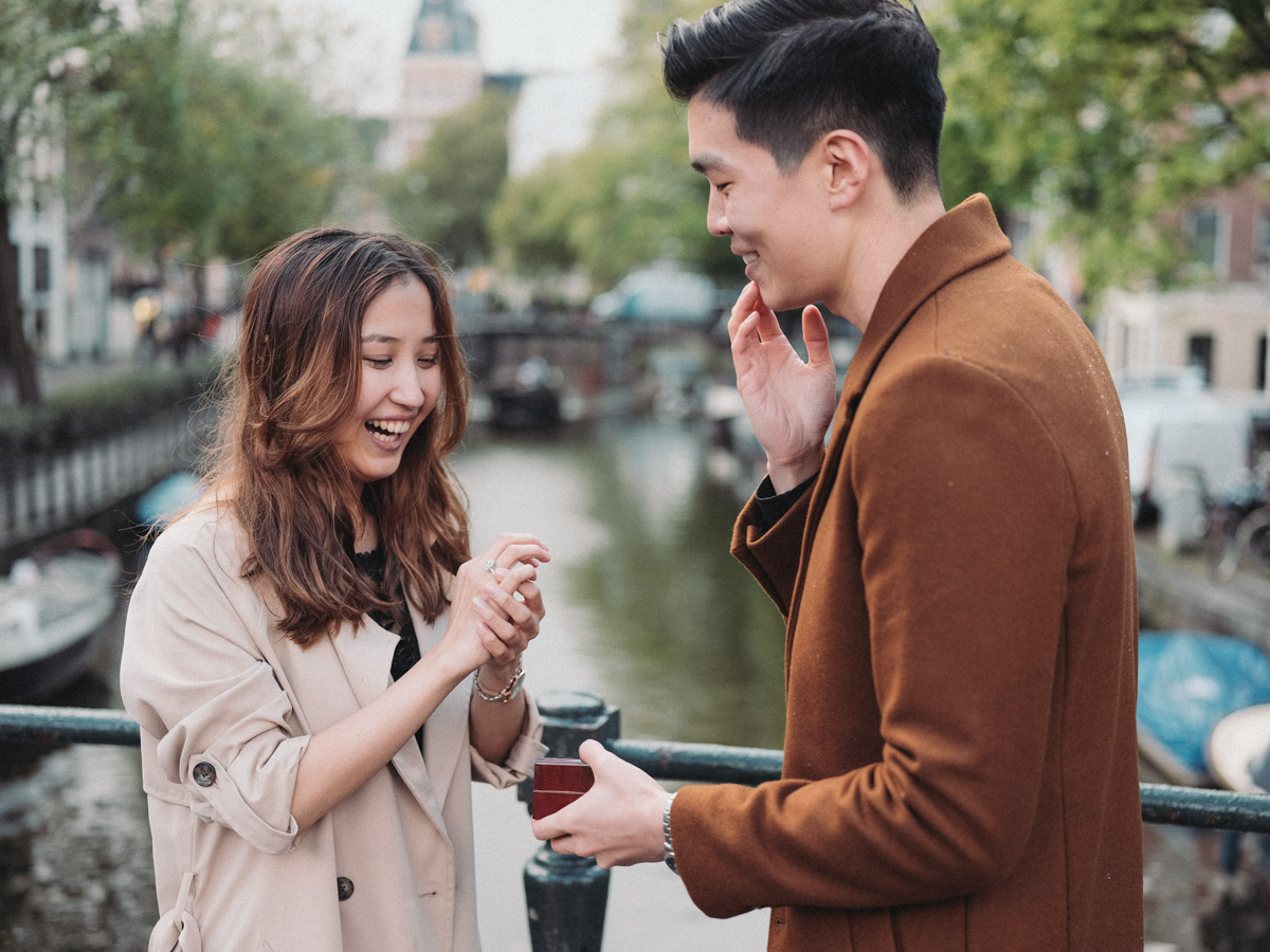 surprise marriage proposal photography amsterdam