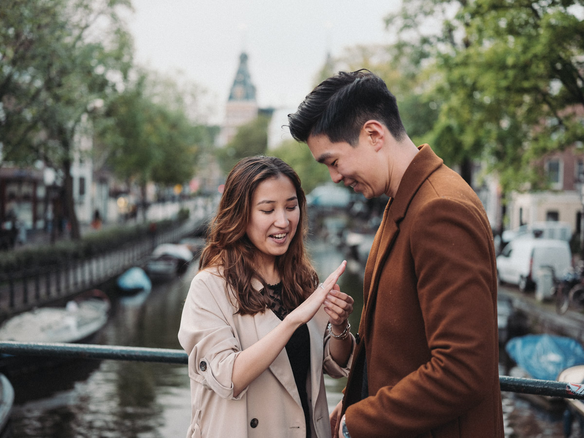 surprise marriage proposal shoot amsterdam