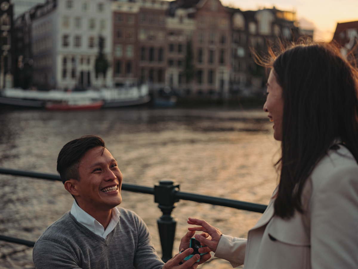 surprise marriage photographer amsterdam