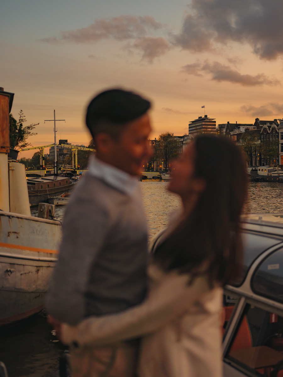 evening proposal photography amsterdam