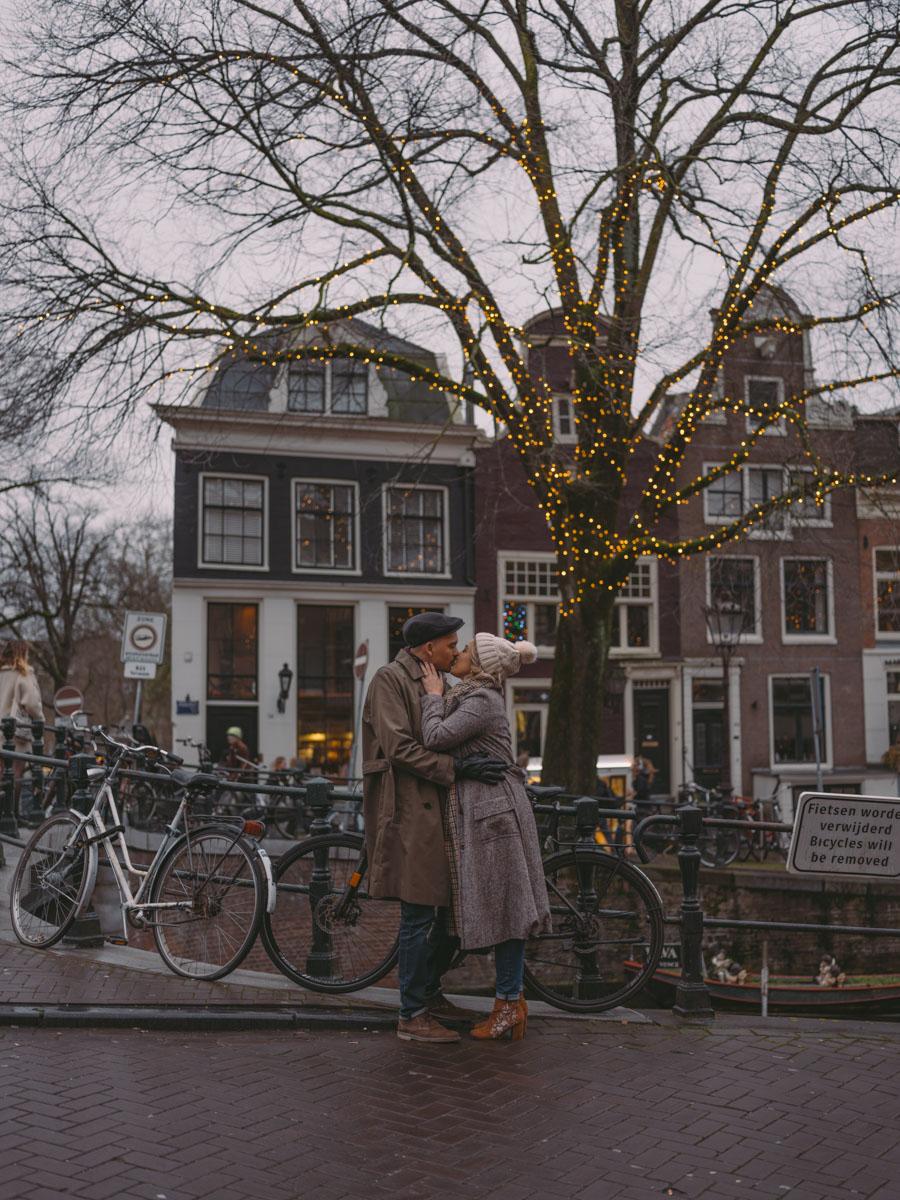 photosession xmas market amsterdam