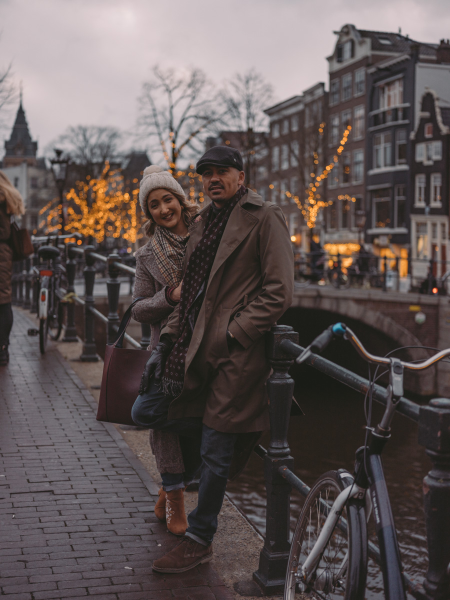 couple evening photoshoot amsterdam