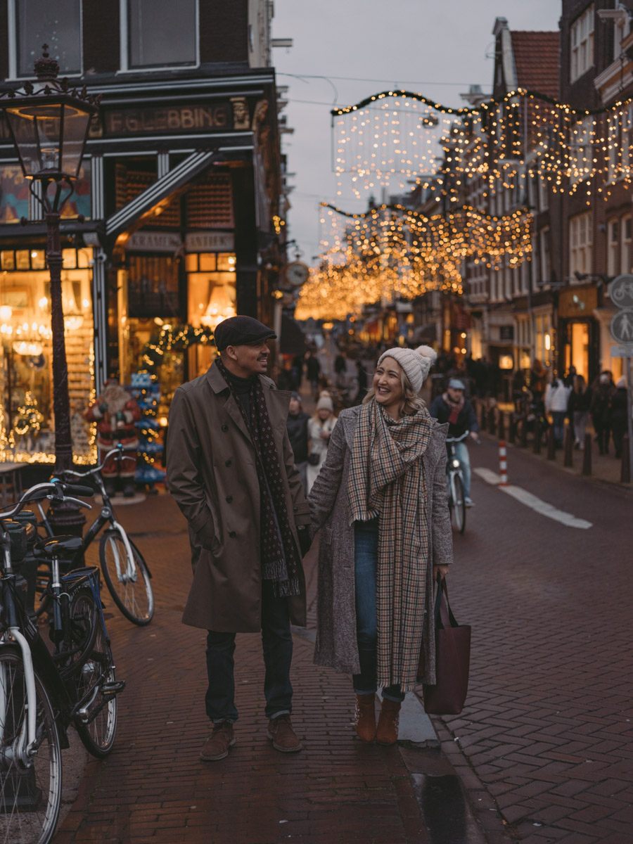 engagement xmas photoshoot amsterdam