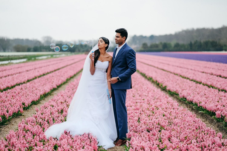 elopement flower field photography