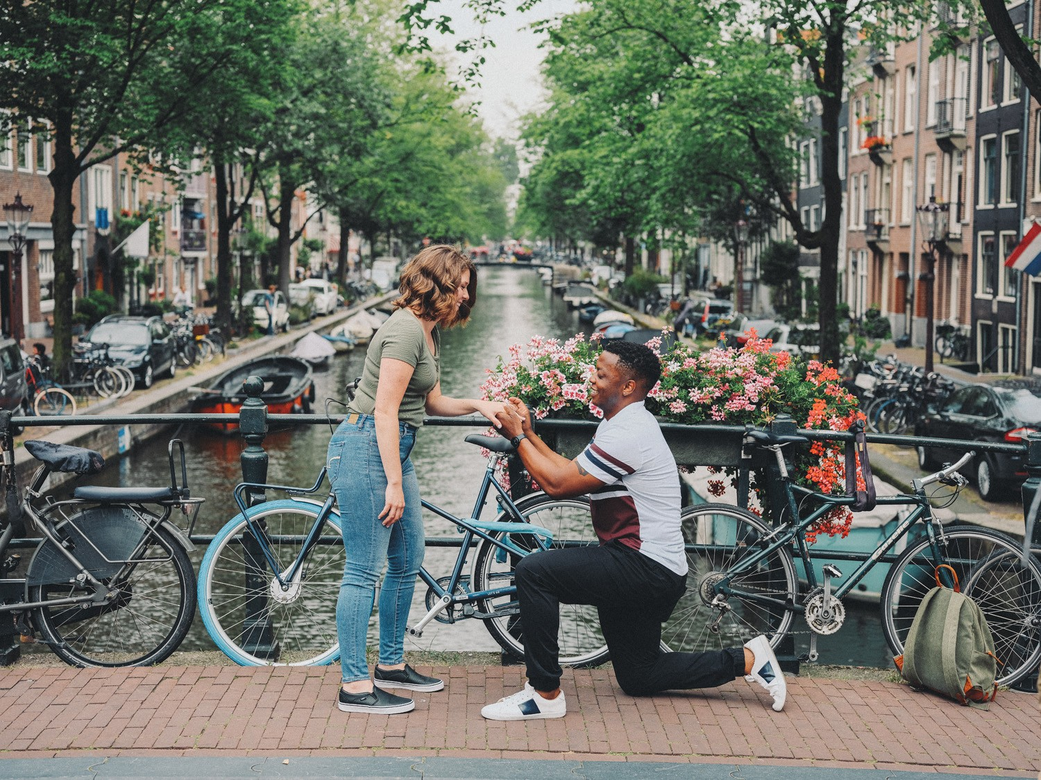 surprise marriage proposal amsterdam