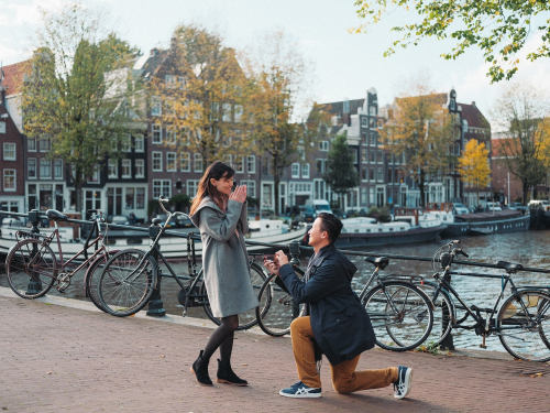 surprise marriage proposal photoshoot