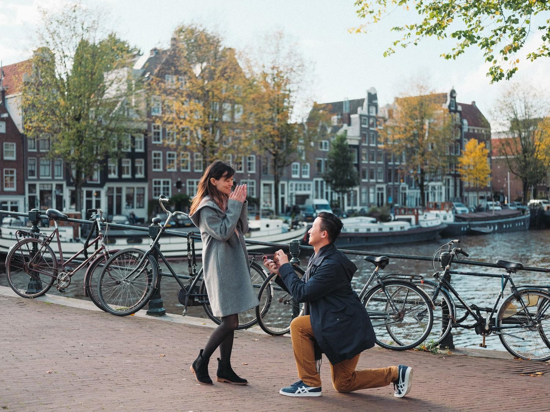 surprise marriage proposal photoshoot