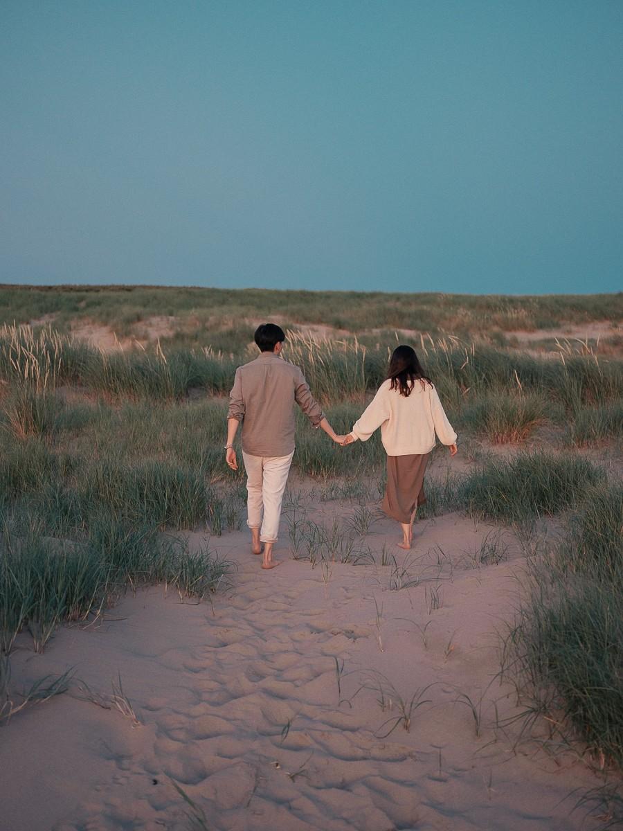 голландия фотосессия пары на пляже