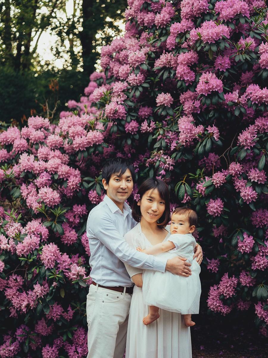 Семейная фотосессия в весеннем парке Амстердама