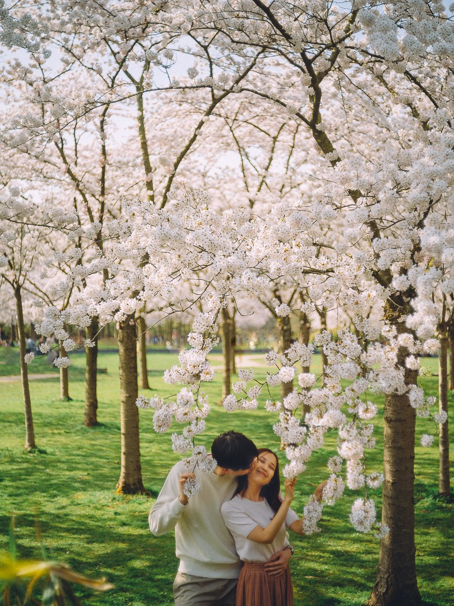 Photoshoot in Cherry Blossom Park