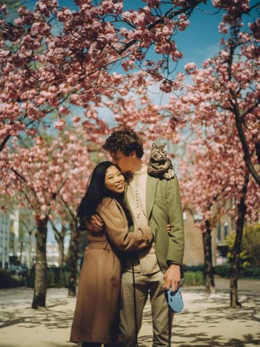 couple photography with pet in amsterdam