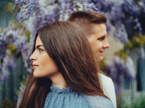 Vibrant couple love shoot Amsterdam